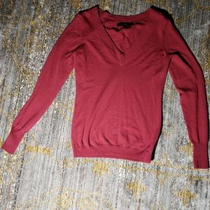 rose ruched merino light wool sweater, The Limited